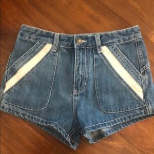 Free People high waist jean short.